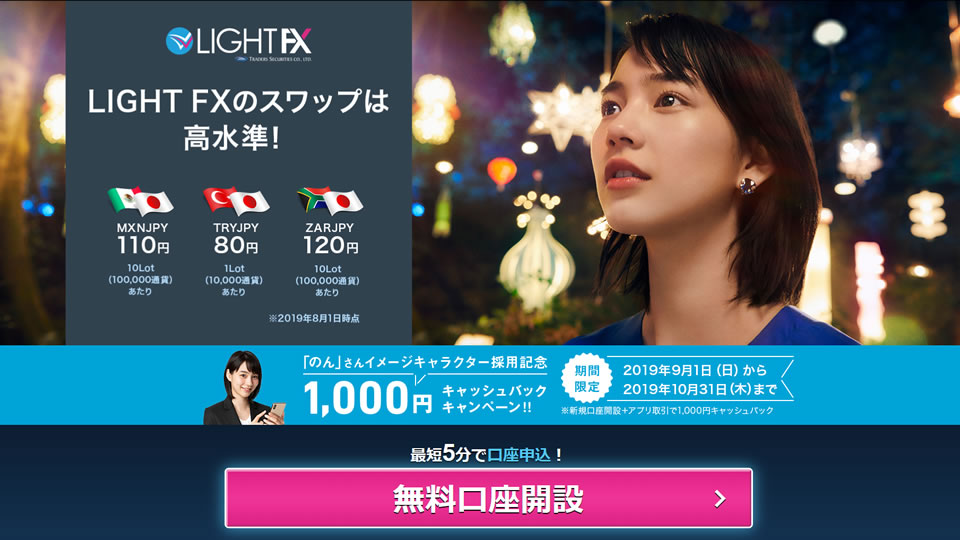 LIGHT FX の特徴 | 口座開設方法